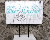 Business Sign, Logo Custom Business Advertisement Sign for Vendors, Craft Shows, Photographers, Studios.  7 1/2  X 11 1/2 inches.