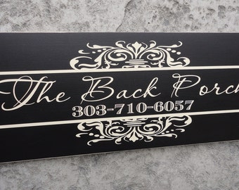 Business Sign, Personalized, Custom Business Advertisement, Logo Sign for Vendors, Salons and Craft Shows. 10 X 24 inches.