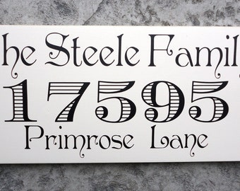 Custom Last Name Sign, Street Address Sign, Family Name Sign, Home Sign. Gift Sign for Birthdays, Weddings, Bridal Showers or Anniversaries.