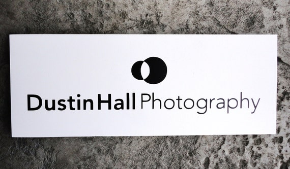 Business Sign with Your Logo, Custom Business Advertisement Sign, Vendors, Photographers and Craft Shows.  10 X 24 inches.