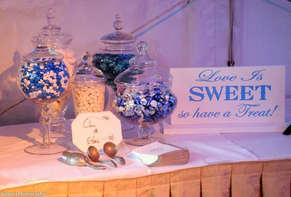 Items similar to Love Is Sweet so Have a Treat Sign ...