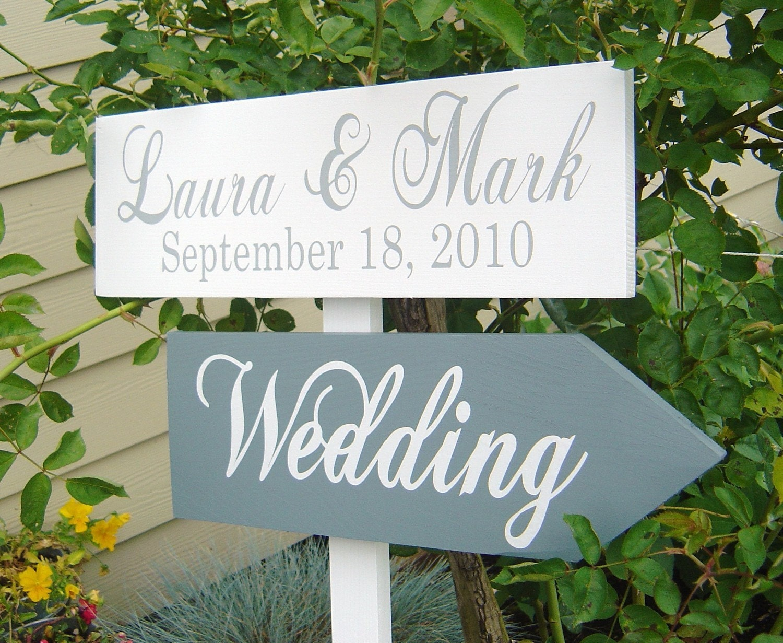 Wedding Signage Custom Wood Directional Sign By