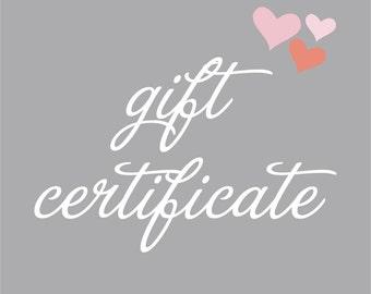 Chloe Jane Handmade Gift Certificate
