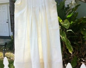 Simple Romantic Cream color Wedding dress, flower girl, Easter gown, Birthday or any occasion.