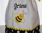 Cutie Bumblebee pillowcase dress - Personalized with first name