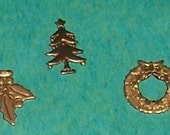 Brass - Metal - Mini Christmas Charms Assortment - x  40 pcs