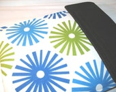 iPad Cover Case - Water Resistant Neoprene Padded Protective Sleeve - Fireworks Spa Blue