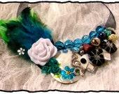 Blue Bayou Boho Chic Feather Collar Bib Statement Necklace Womens Fashion Jewelry Vintage Charm Elements