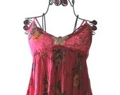 Romantic Boho Sundress, Garden Party Dress, Shabby chic, Slip dress, Butterfly, Summer Girl, Womens Clothing, Mothers day