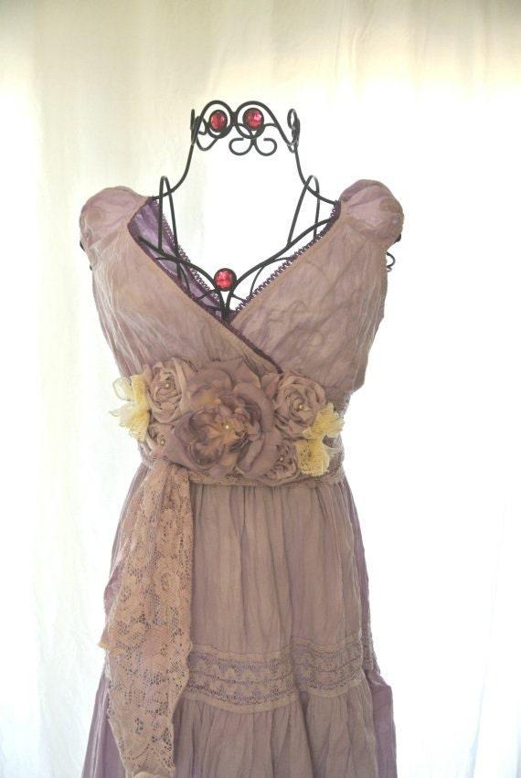 Gypsy Maxi Dress boho chic sundress shabby chic ruffle
