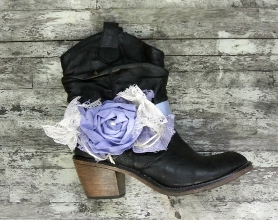 Cowboy Boot bling, Cowgirl Boot accessories, Texas, Blue, Farm Girls, Rose, Country Western, Romantic, Bling Boots