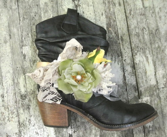 Boot Bling, Ugg Accessories, Cowgirl Boots, Boho Chic, Romantic, Cowboy Boot bling, western wear, farm girl