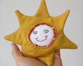 Smiling Sun Handmade Baby Rattle - Ready to Ship