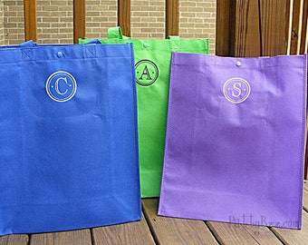 Reusable Tote / Grocery Bag with your Choice of Initial