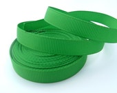 5 Yards 3/8 Inch Classical Green Grosgrain Ribbon Hair Bows Korkers Headbands