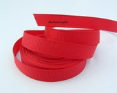 5 Yards 3/8 Inch Red Grosgrain Ribbon Hair Bows Korkers Headbands Cards