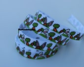 5 Yards 3/8 Inch Bunny Ears and Carrots Grosgrain Ribbon