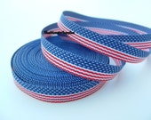 5 Yards 3/8 Inch American Flag Stripe Grosgrain Ribbon Free Shipping with 6 Or More Items