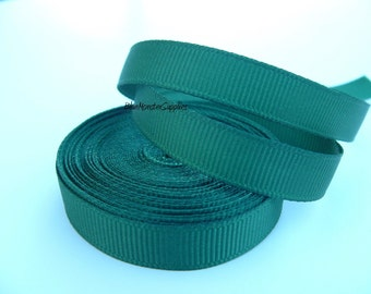 5 Yards 3/8 Inch Forest Green Grosgrain Ribbon Hair Bows Korkers Headbands