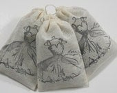 Paris Dress Shabby Chic Lavender Sachets