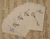 paris skeleton key petite paper sacks lot of 5