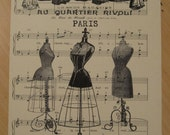 french dress forms sheet music