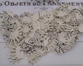vintage sheet music french crown confetti set of 100
