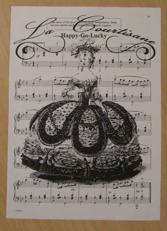 french marie antoinette vintage sheet music