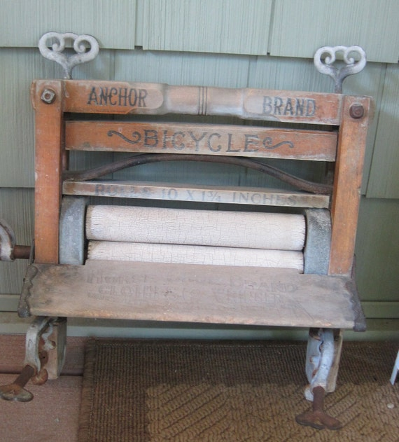 vintage bicycle laundry ringer