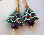 Christmas Jewelry Evergreen Christmas Tree Earrings Christmas Earrings Winter Holidays