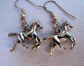Silver Horse Earrings Gold Horse Jewelry Equestrian Arabian Girls