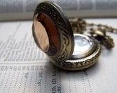 Locket Watch Necklace Vintage Inspired Pocket Watch Neo Victorian Romantic