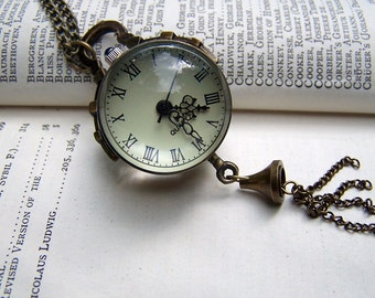 Watch Necklace Vintage Inspired Neo Victorian