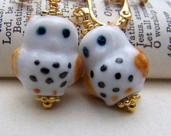 Gold Clip on Earrings Owl Clip Ons Cute Little Owls Gold Owl Jewelry Girls Jewelry