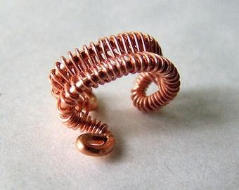 Copper Ear Cuff  - Wire Wrapped Ear Cuffs - Copper Jewelry