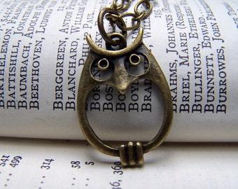 Brass Owl Necklace Owl Jewelry Under 25 Vintage Owls