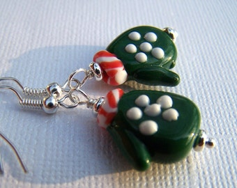 Christmas Earrings Holiday Jewelry Christmas Jewelry Holiday Earrings Winter Holidays Mitten Earrings