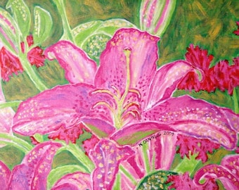 Pink and Magenta Lily