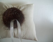 twig... natural cotton ring pillow