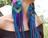AVALON PRINCESS Super Long Feather Earrings
