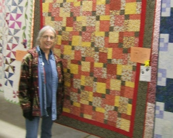 Patchwork Tossed Nine Quilt