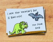 A Dino Kind of Valentine - Printable Valentine Card - Mini Valentines - Classroom Valentines