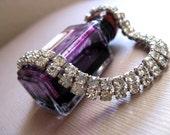 Rhinestone Bracelet Faux Diamonds  Vintage