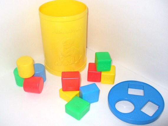 Vintage Fisher Price Baby's First Blocks Shape Sorter and