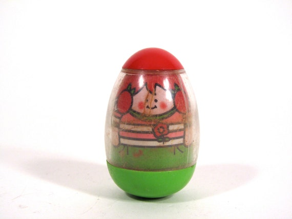 Vintage Weeble  Red Haired Girl with Pigtails1973 Hasbro