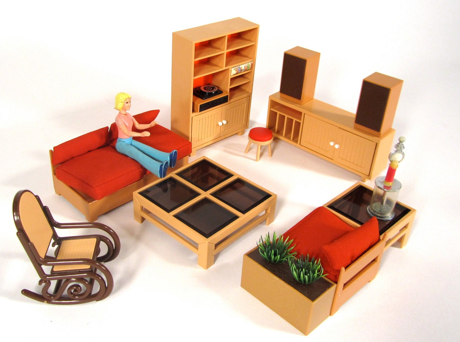 Tomy Brand 1980's Smaller Homes Doll House Furniture