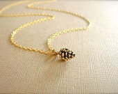 Dainty Gold Pinecone Necklace