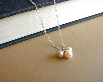 Freshwater Pearl Trio on Silver - Trio in Pink