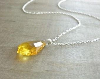 Lemon Drop Swarovski Pendant