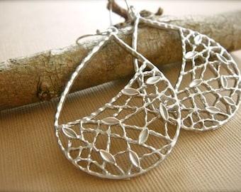 Silver Trellis Earrings